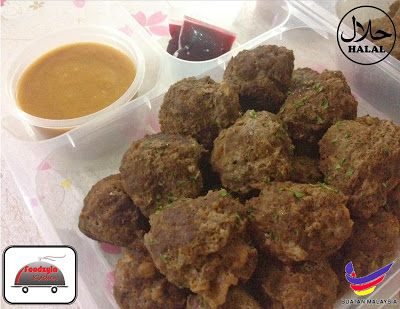 FROZEN Swedish Meatballs. Kini meatball lebih daging dan puas !! serve with special gravy, mashed potatoes and fruits sauce. JAMINAN HALAL, MUDAH DAN LAZAT!!!!! Muslim Homemade. Delivery to Putrajaya, bangi, Kajang, Cyberjaya dan kawasan sekitar. dah xperlu ke damansara semata untuk menikmati hidangan ini… YUMMY!!!!!!!!!!!  Hanya RM18 (20pcs/320gm). Klik like page kami Halal Food Delivery & lawati web kami http://www.halalfooddelivery.net/ @ 018-2204 016 Call/SMS/Whatsapp. TQ